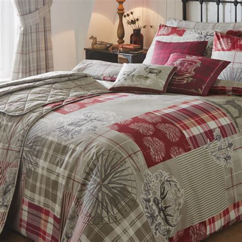 Patchwork Bedding And Curtains - tatton stag patchwork bedding duvet sets bedding