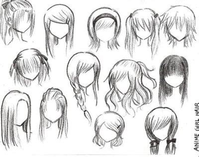 anime hairstyles ponytails drawn wind ponytail hair pencil and in color drawn wind