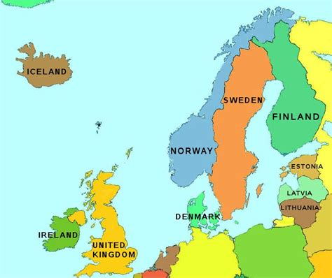 map northern europe countries map of northern europe map of northern europe my