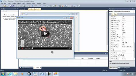 tutorial visual basic c visual basic 2010 express tutorial 46 playing youtube