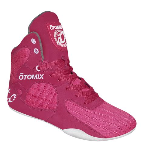 pink womens bodybuiling mma and boxing shoes