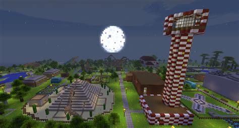Theme Park Minecraft | theme blockworld minecraft rollercoaster theme park map