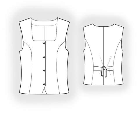 pattern waistcoat waistcoat with princess seams sewing pattern 5955 made