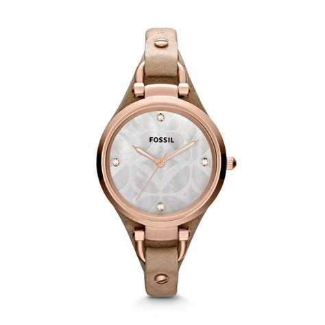 Fossil Geoegia Leather sand leather fossil