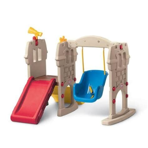 little tikes toddler swing and slide little tikes swing along castle play equipment outdoor