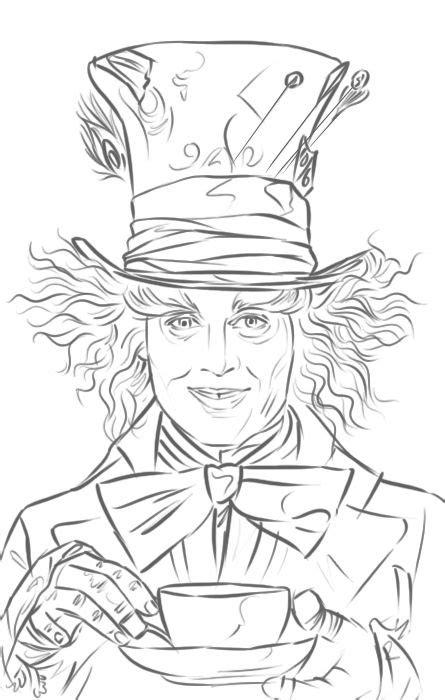 sketch tattoo johnny depp mad hatter johnny depp in alice in wonderland