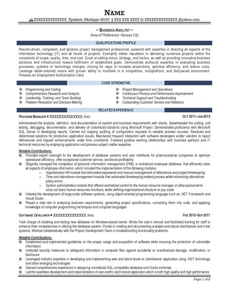 resume templates it professional free resume templates sle professional it sles