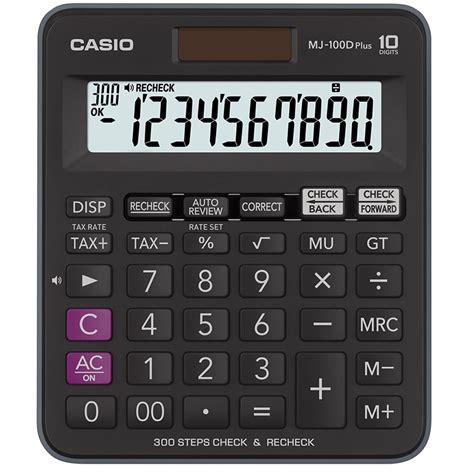 Casio Semi Dekstop Mj 100 D buy casio desk calculator mj 100dplus in uae