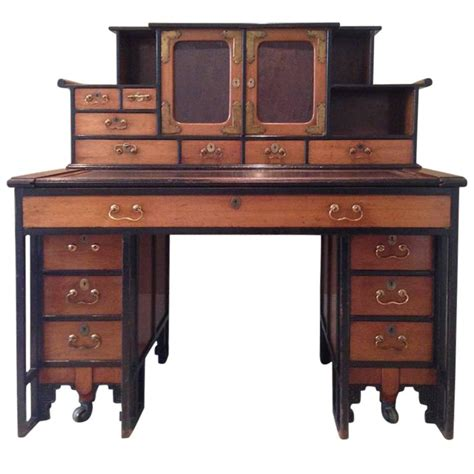 japanese style desk rare walnut desk in the anglo japanese style designed by