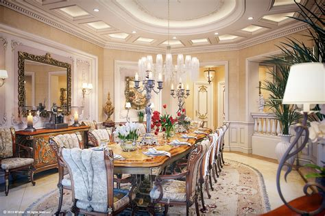 luxury dining room luxury villa in qatar visualized