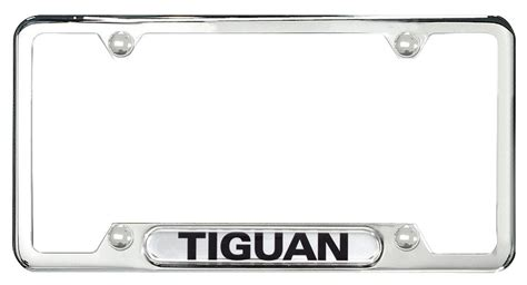 volkswagen tiguan license plate frame tiguan polished