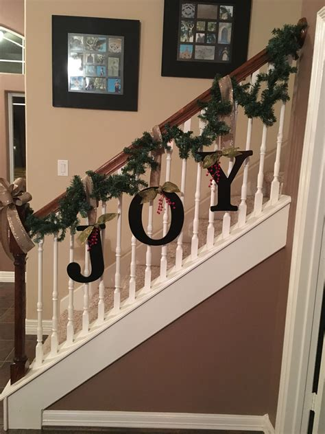banister decor rev on banister for christmas this year teamlejeune