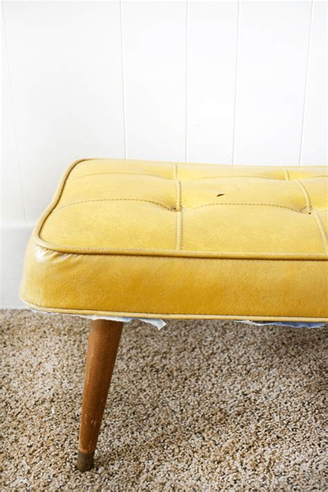 tufted bench diy diy modern leather tufted bench brepurposed