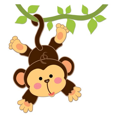 mod monkey coloring pages vinilo infantil mono colgado en la liana