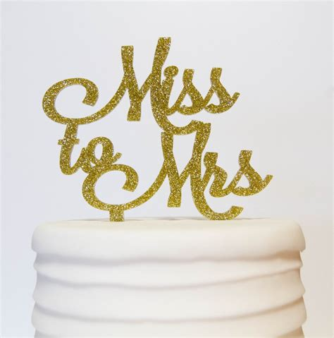 From Miss To Mrs Wood Cake Topper miss to mrs cake topper pink poppy shoppe llc