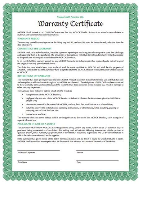 Warrant Card Template by 5 Warranty Certificate Templates Formats Exles In