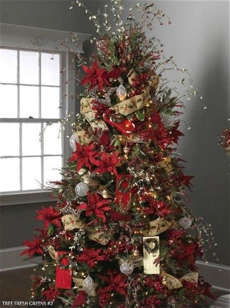 poinsettia decorated tree christmas church decorations