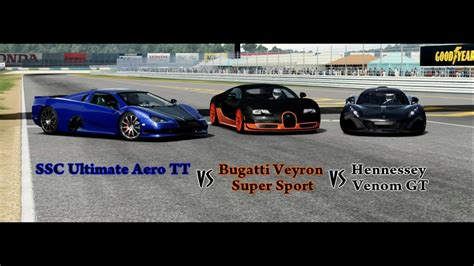 bugatti vs ultimate aero ssc tuatara vs bugatti veyron