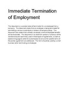 Letter Of Termination Of Employment by Welcome To Docs 4 Sale