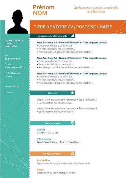 Cv Curriculum Vitae Gratuit by Cv Gratuit 224 T 233 L 233 Charger Mod 232 Les De Curriculum Vitae
