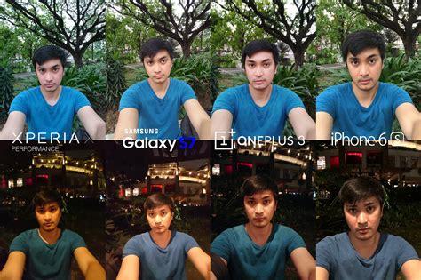 selfie xperia  performance sony galaxy  samsung iphone