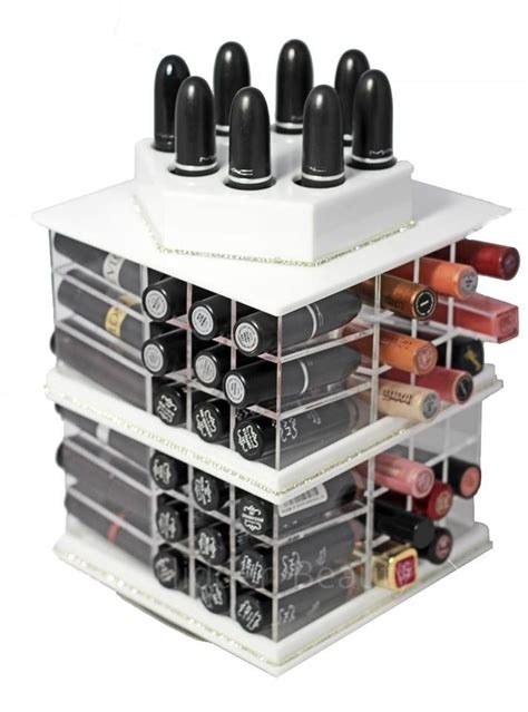 makeup holder spinning rotating lipstick acrylic makeup cosmetic holder