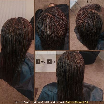 parting hair for micro braids micro braids micros with a side part colors 99j and 30