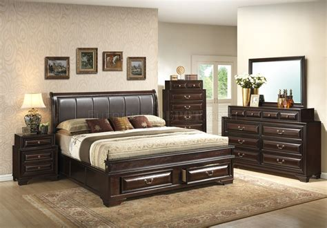 Cappuccino Bedroom Furniture by G8875b Bedroom In Cappuccino By Furniture W Options