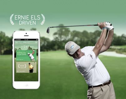 ernie els swing analysis ernie els driven apps on behance