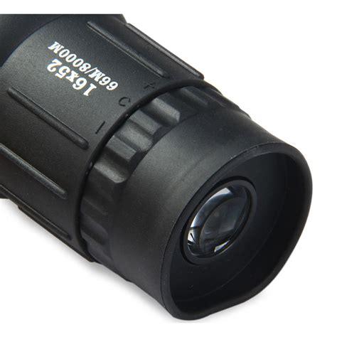 Bushnell Teropong Monokular 16x52 Focus And Zoom Lens Bushnell Teropong Monokular 16x52 Focus And Zoom Lens Adjustable Telescope Black