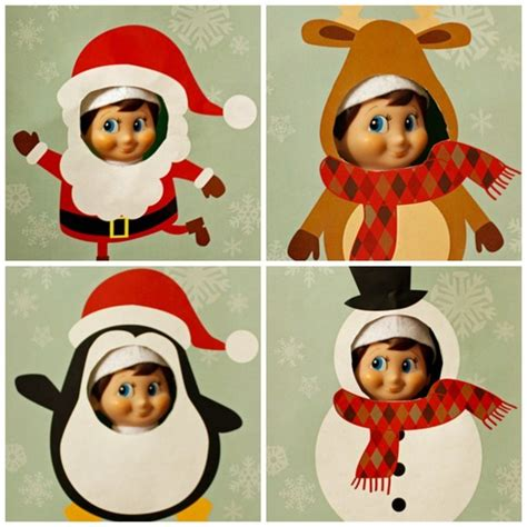 printable mask for elf on the shelf elf on the shelf printable cutouts