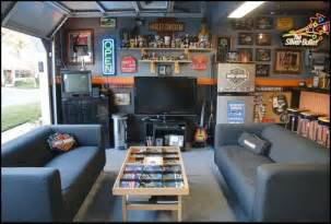wonderful Football Bedroom Decorating Ideas #2: Harley+Garage+Mancave-Harley+Garage+Mancave.jpg