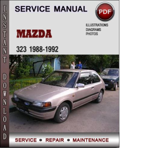 car repair manuals online pdf 1992 mazda 323 engine control mazda 323 1988 1992 factory service repair manual download pdf do