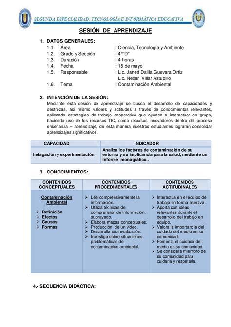 modelo de sesiones con tic sesion de aprendizaje con integracion tic
