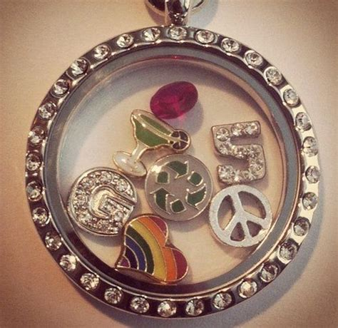 floating charm glass locket similar to origami owl 34