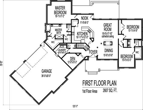 143 Best Images About House Plans On Pinterest French 2600 Square Foot Ranch House Plans