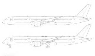 Line Drawing Templates by Boeing 787 9 Blank Illustration Templates Norebbo