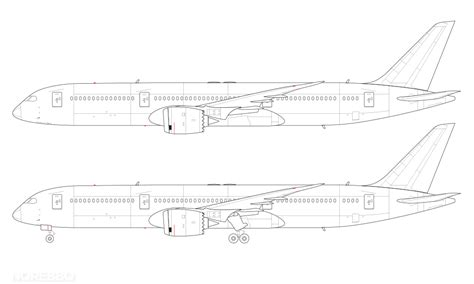 line drawing templates boeing 787 9 blank illustration templates norebbo