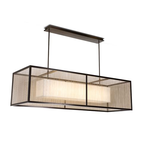 linear pendant light fixtures linear rectangular pendant crenshaw lighting