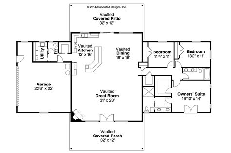 style floor plans ranch house plans anacortes 30 936 associated designs