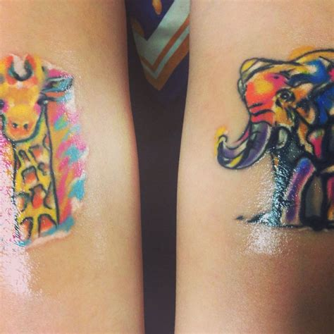 watercolor tattoos giraffe 17 best ideas about watercolor elephant tattoos on