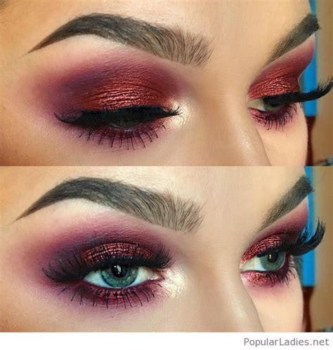 Eye Berry Cafe amazing wine glitter eye makeup for blue
