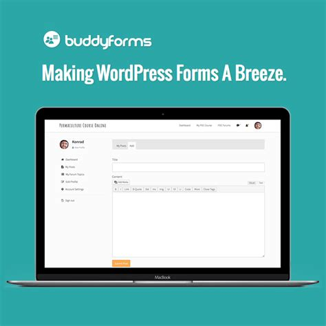 wordpress layout editor plugin buddyforms form builder front end post editor wordpress