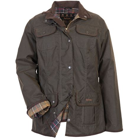 womens barbour waxed cotton utility jacket barbour barbour ladies utility waxed jacket linnell countrywear