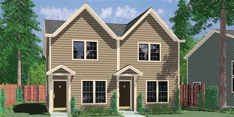 narrow houses narrow small lot duplex house floor plans two bedroom d 341