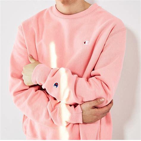 light pink hoodie mens chion pink sweatshirt fashion ql