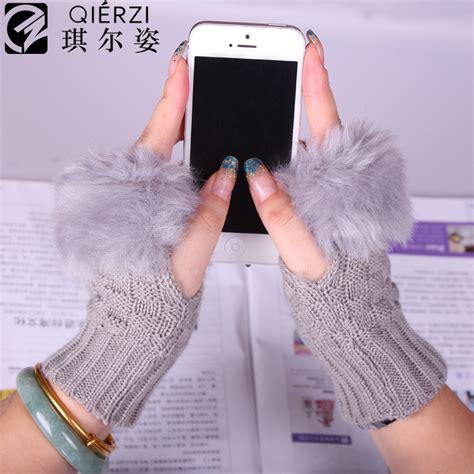Sarung Tangan Wanita Musim Dingin Winter Kulit Asli terlaris sarung tangan musim dingin wanita desain lama termal rajutan mittens sarung tangan