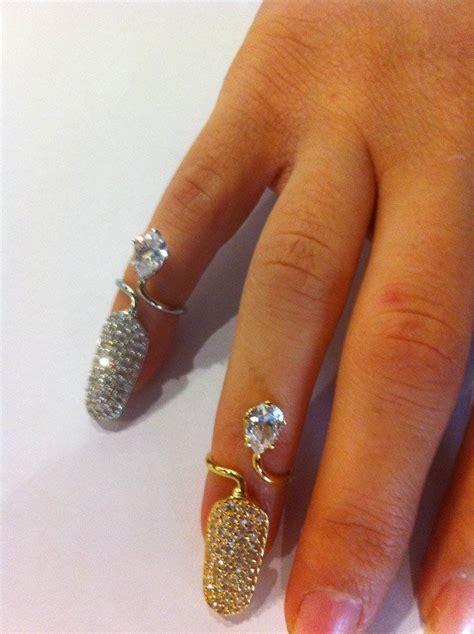 claws gold nail rings
