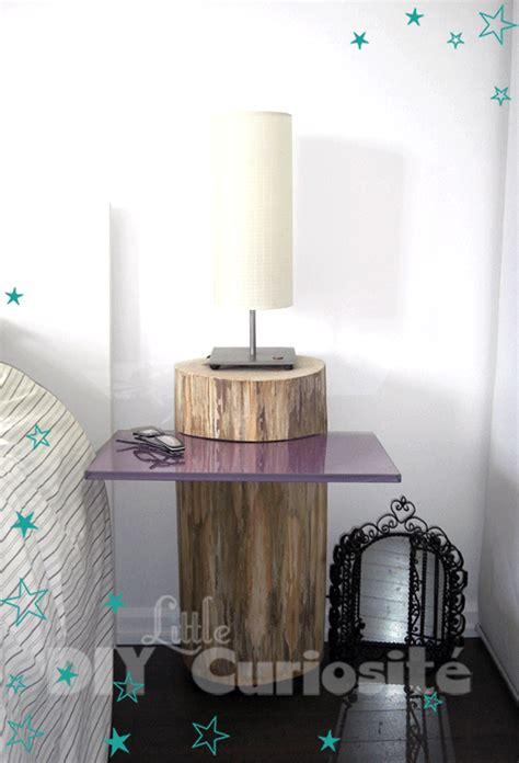 table de nuit rondin de bois cheap table de chevet tronc duarbre u plaque de verre
