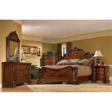 Wood King Size Bedroom Sets | king size 4 piece wood estate bedroom set by a r t furniture